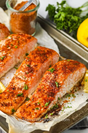 Salmon Seasoning on salmon