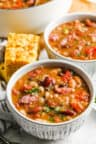bowls of 15 Bean Soup