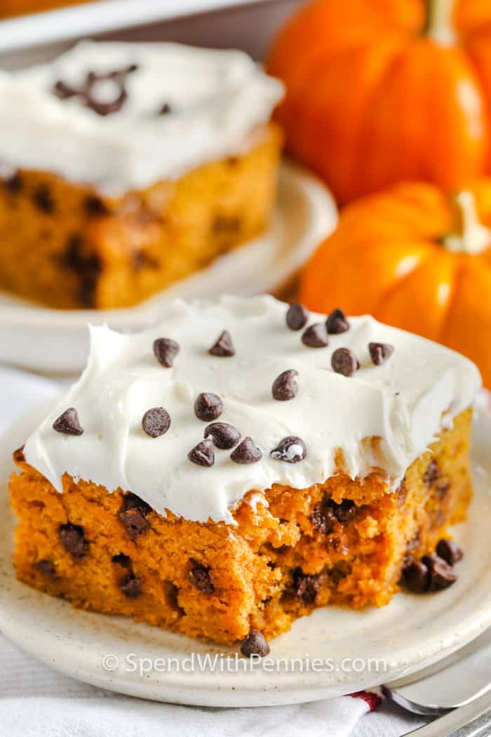 Pumpkin Cake With Cream Cheese Frosting Spend With Pennies