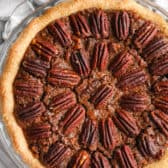 top view of full Chocolate Pecan Pie