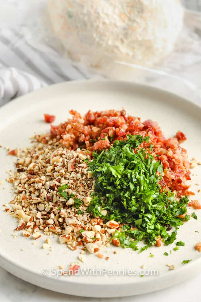 spices to roll cheese ball in to make Classic Cheese Ball