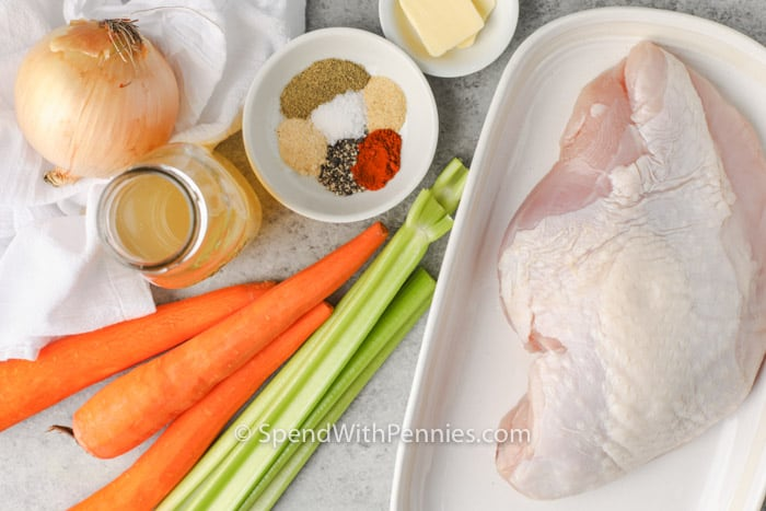 ingredients to make Crockpot Turkey Breast