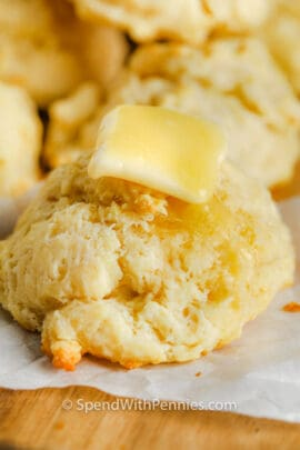 close up of Easy Drop Biscuits