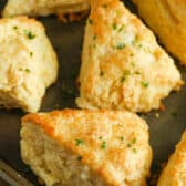 close up of buttered and baked Cheese Scones