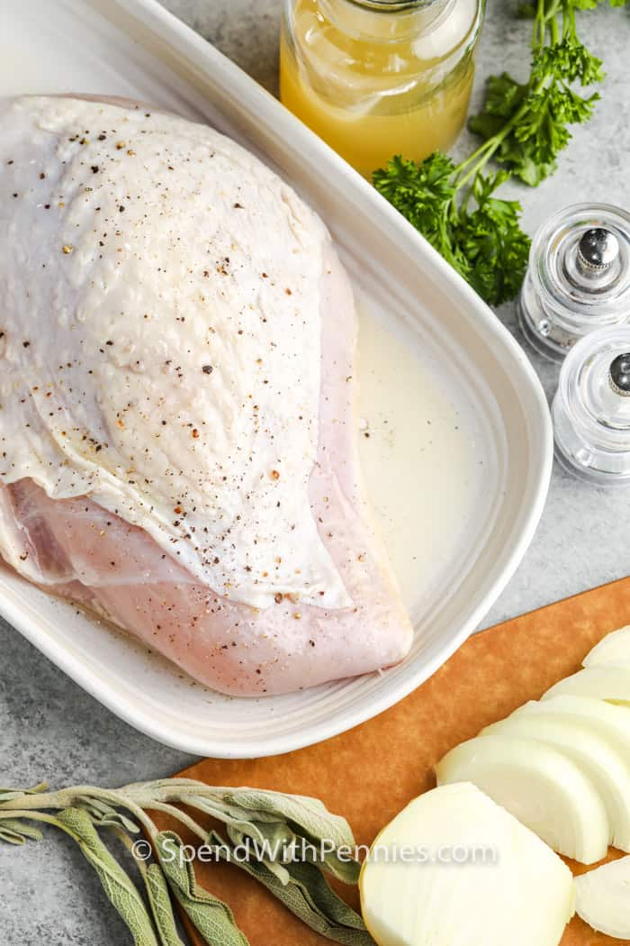ingredients to make Instant Pot Turkey Breast