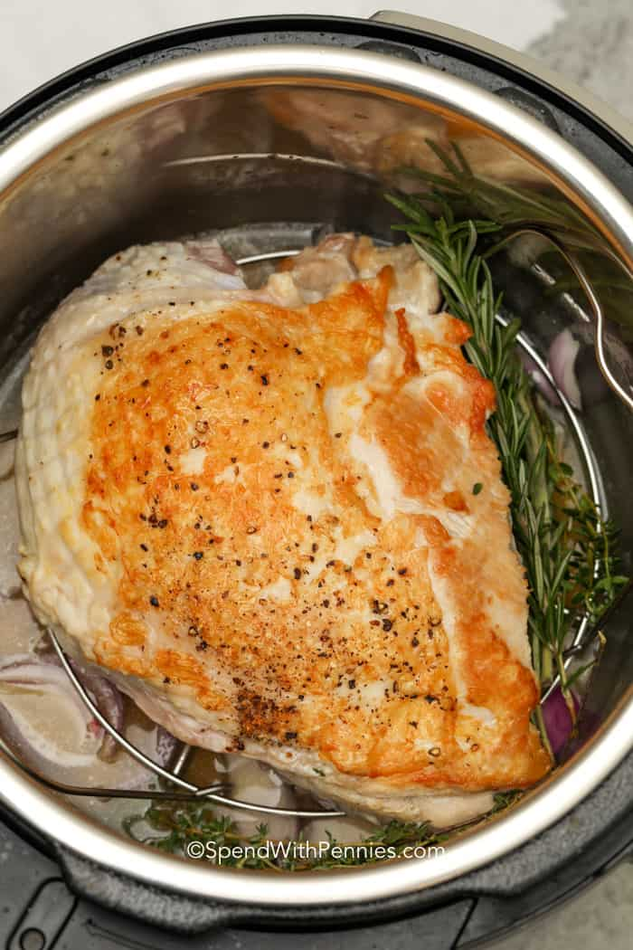turkey breast browned in an instant pot