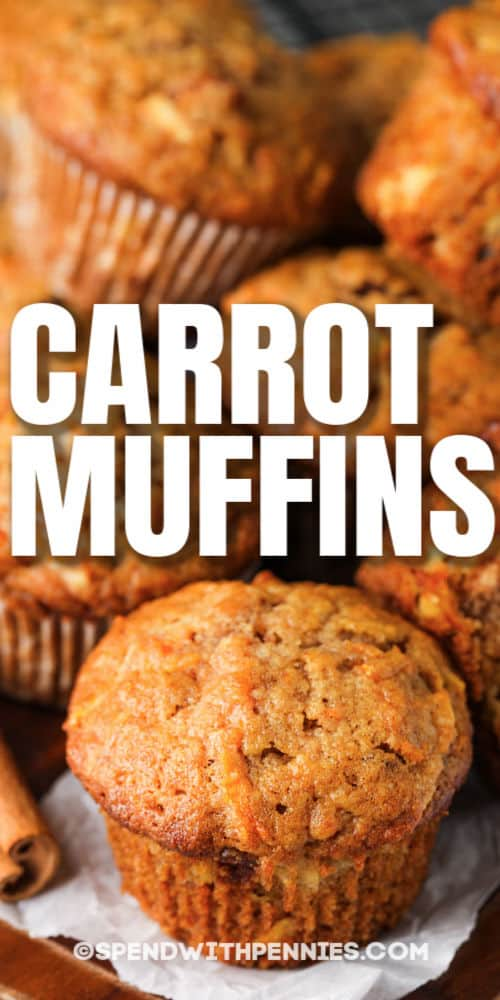 Carrot Muffins with a title