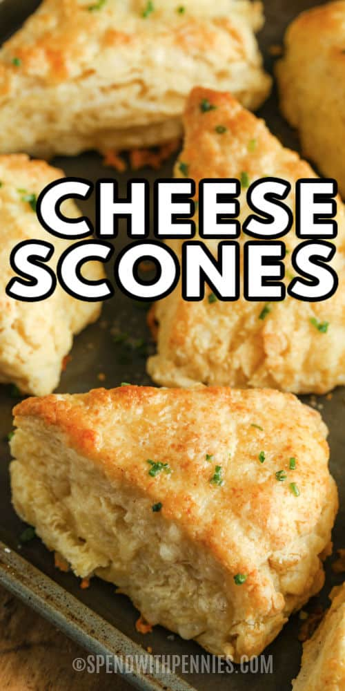 Cheese Scones with a title