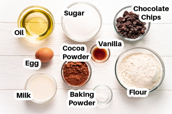 ingredients to make Fudgy Chocolate Brownies