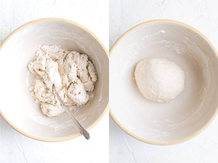 process of making dough to make Sopapillas