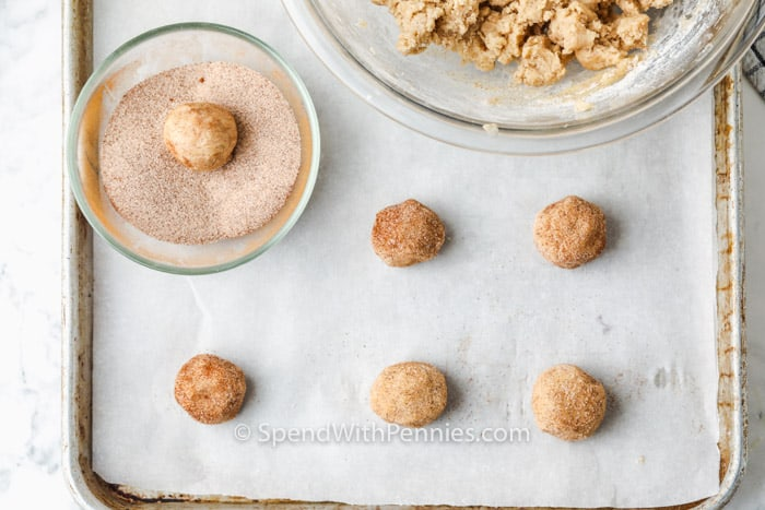 process of making Easy Snickerdoodle cookie Recipe