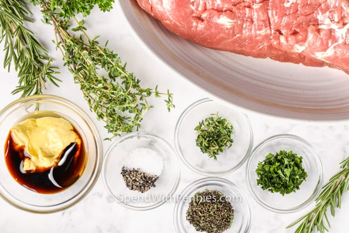 ingredients to make Herb Crusted Pork Tenderloin