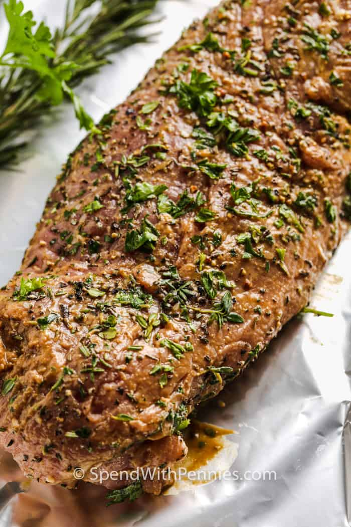 Herb Crusted Pork Tenderloin before cooking