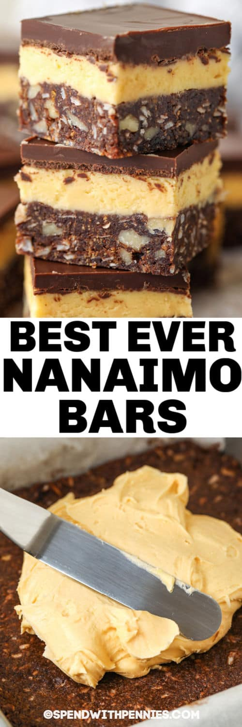 Nanaimo Bars with a title