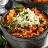 Lasagna Soup in a bowl