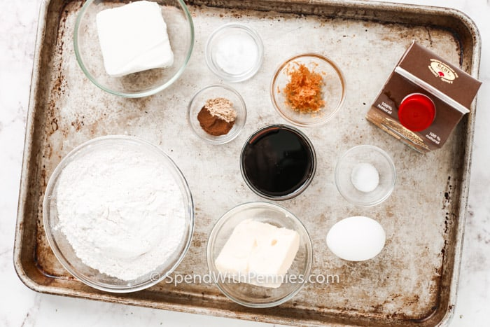 ingredients to make Molasses Cookies