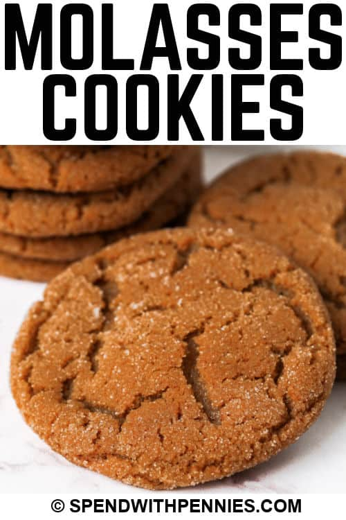 Molasses Cookies with writing