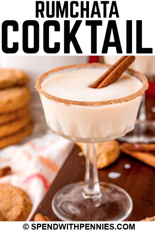 Snickerdoodle Cocktail with a title