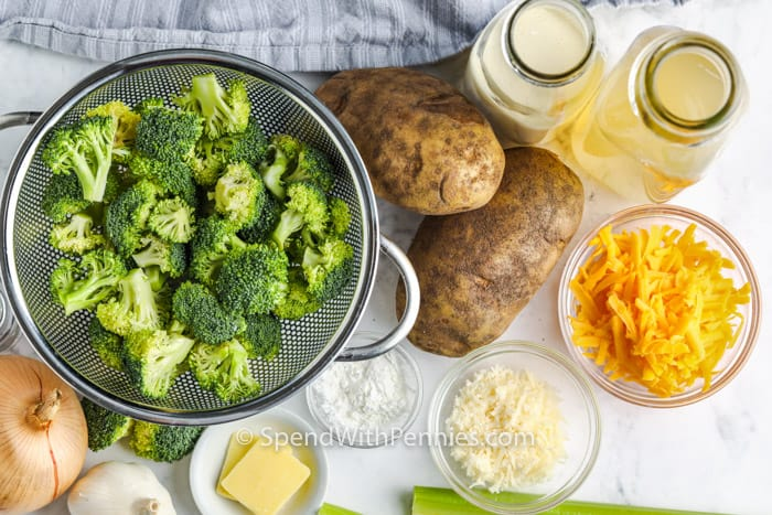 ingredients to make Potato Broccoli Soup