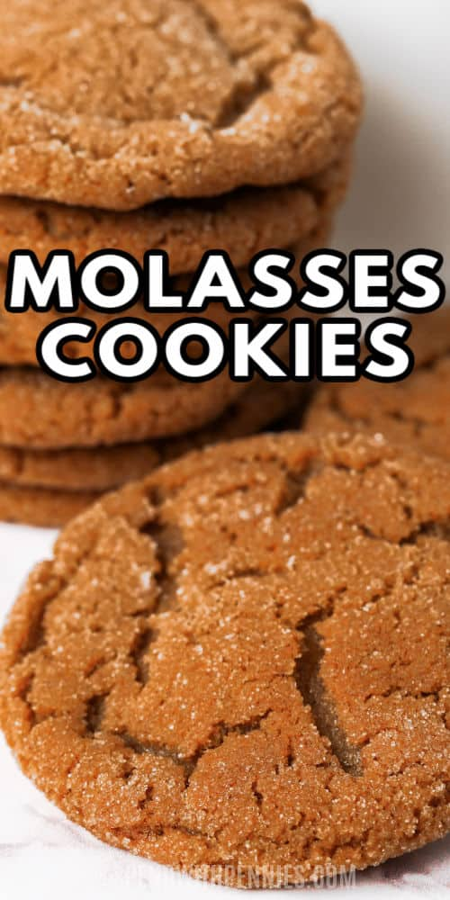 Molasses Cookies with a title
