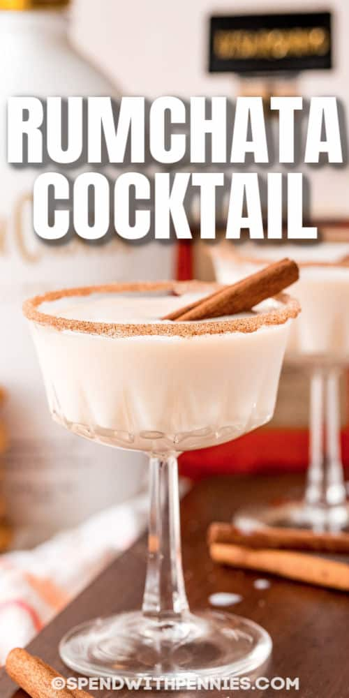 glasses of Snickerdoodle Cocktail with a title