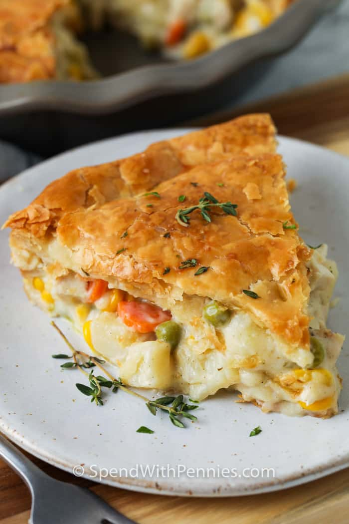 Chicken Pot Pie on a plate