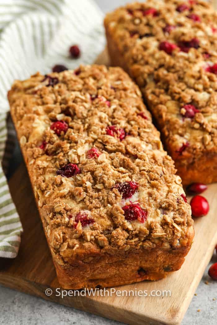 Cranberry Walnut Bread loafs