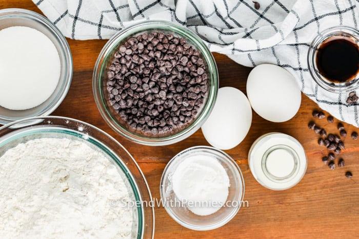 ingredients to make Mini Chocolate Chip Scones