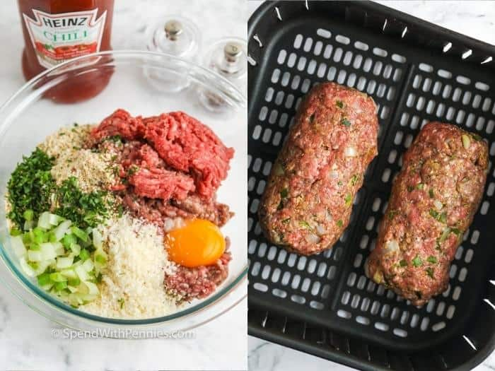 process of making Air Fryer Meatloaf
