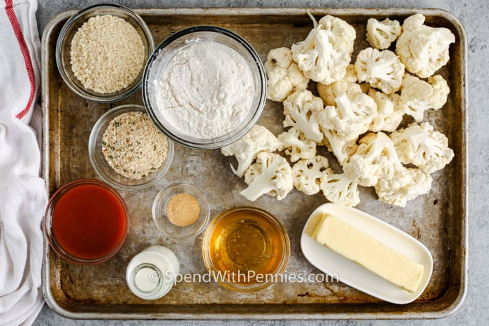 ingredients to make Air Fryer Buffalo Cauliflower