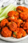 close up of Air Fryer Buffalo Cauliflower
