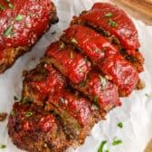 sliced Air Fryer Meatloaf