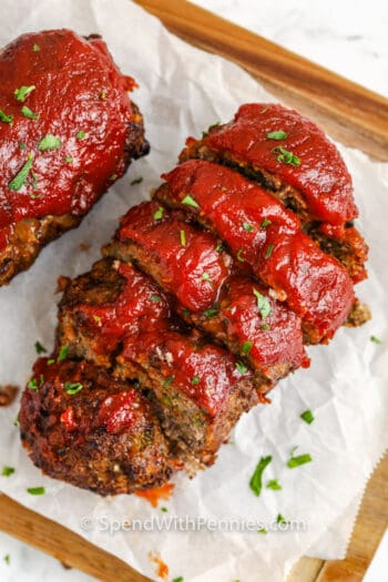 sliced Air Fryer Meatloaf
