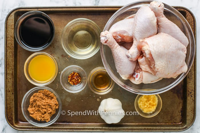 ingredients to make Baked Teriyaki Chicken