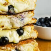 Stack of Blueberry Brie Grilled Cheese