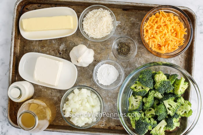 ingredients to make Broccoli Cheddar Soup