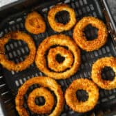 cooked Air Fryer Onion Rings
