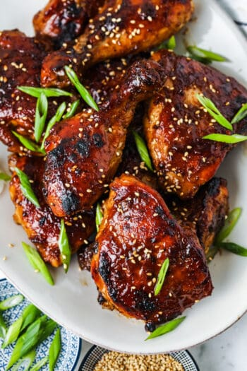 plated Baked Teriyaki Chicken with garnish