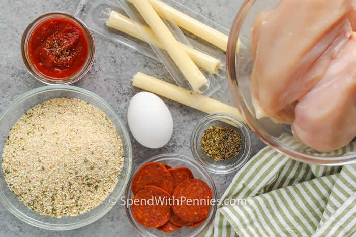 ingredients to make Pizza Stuffed Chicken