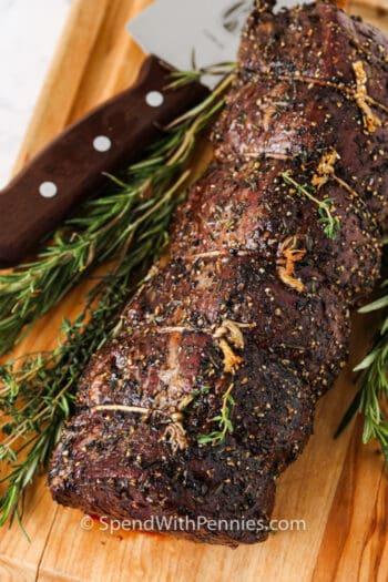 Roast Beef Tenderloin after cooking