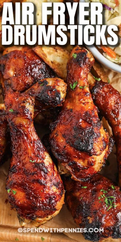 Air Fryer Chicken Drumsticks with a title