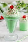Shamrock Shake with whipped cream and cherries