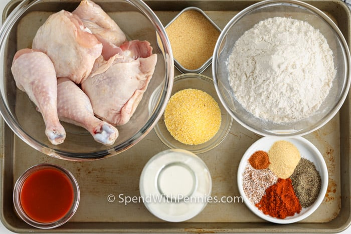 ingredients to make Air Fryer Fried Chicken