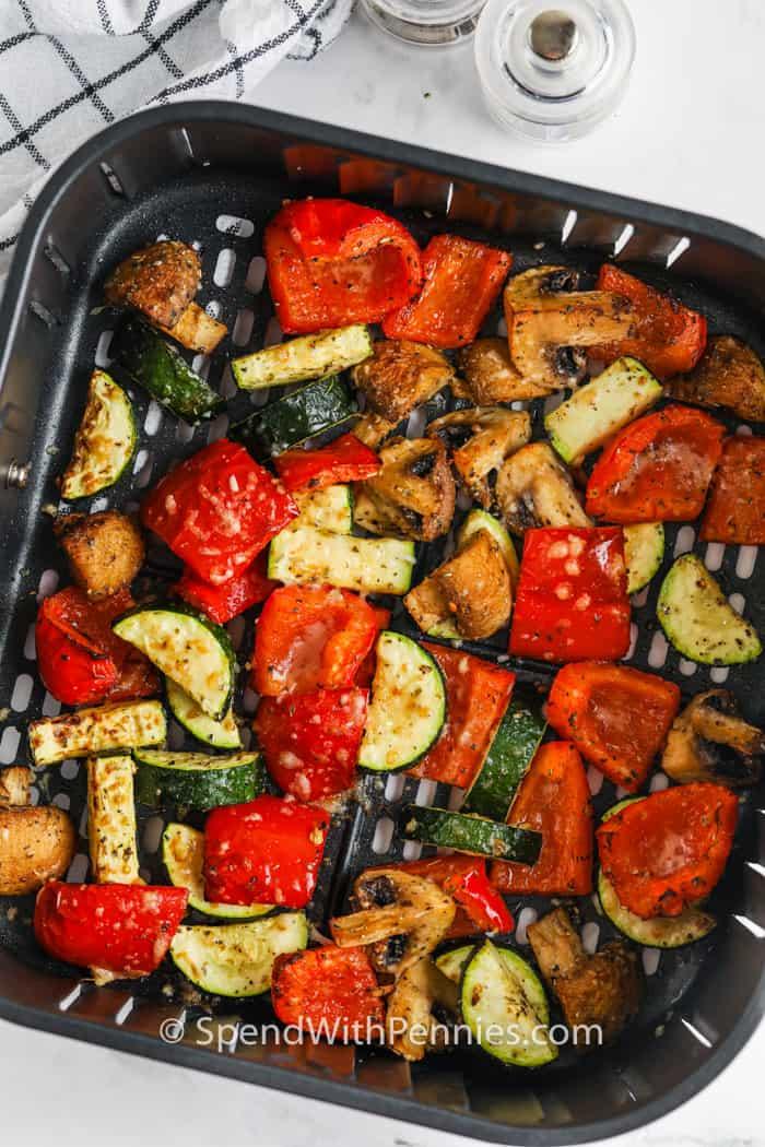 Air Fryer Vegetables in the air fryer