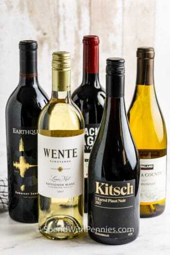 Best Wines for Cooking on a table