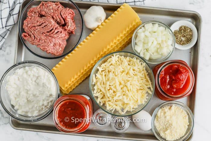 ingredients to make Crock Pot Lasagna