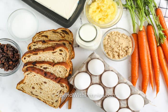 ingredients to make Easter Breakfast Bake