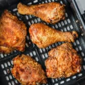 cooked Air Fryer Fried Chicken