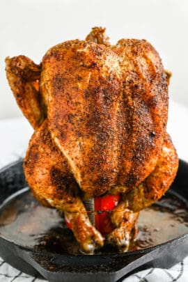 close up of Beer Can Chicken