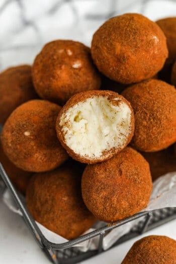 close up of Irish Potato Candy